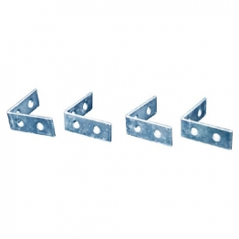 4trade Corner Braces Zinc Plated 25mm Pack Of 4