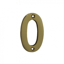 4trade Numeral 0 Polished Brass 75mm