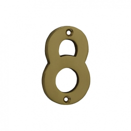 4trade Numeral 8 Polished Brass 75mm
