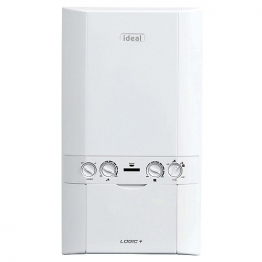 Ideal Logic Plus 24kw Combi Boiler & Standard Horizontal Flue Pack Erp