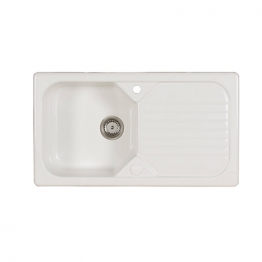Garrigue 1.0 Bowl Ceramic White Inset Sink