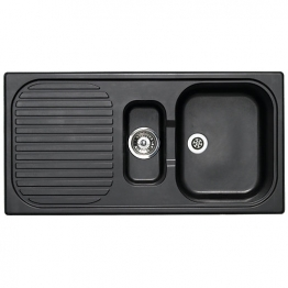 Msk 1.5 Bowl Asterite Black Inset Sink