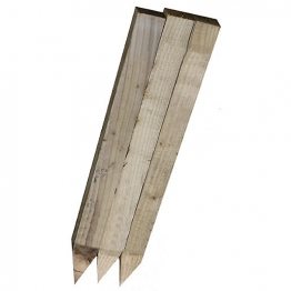 Pointed Pegs Sawn And Treated 47 X 50 X 600mm