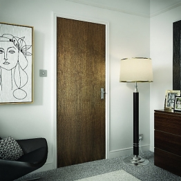 Internal Flush Walnut Veneer Fd30 Door 1981mm X 762mm X 44mm