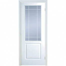 Moulded 2 Panel Smooth Hollow Core Clear Glazed Internal Door 1981mm X 762mm X 35mm