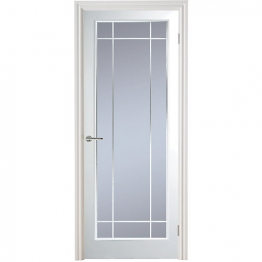 Moulded Manhattan 10 Light Arch Top Textured White Leaded Standard Core Internal Door 1981mm X 762mm X 35mm
