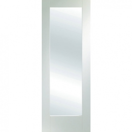 Moulded White Primed Pattern 10 With Obsure Glass Internal Door 1981mm X 686mm X 35mm