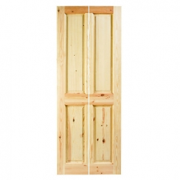 Knotty Pine 4 Panel Bi-fold Door 1981mm X 686mm X 35mm