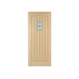 External Croft Oak Double Glazed Leaded Door 1981mm X 838mm X 44mm