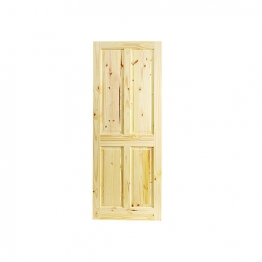 Softwood Knotty 4 Panel Pine Internal Door 1981mm X 762mm X 35mm
