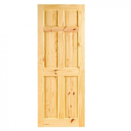Softwood Knotty Pine 6 Panel Internal Door 1981mm X 762mm X 35mm