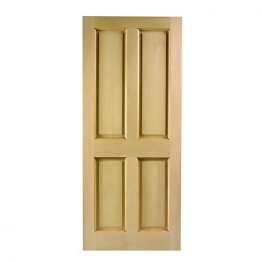 London 4 Panel Hardwood Veneer External Door 1981mm X 838mm X 44mm