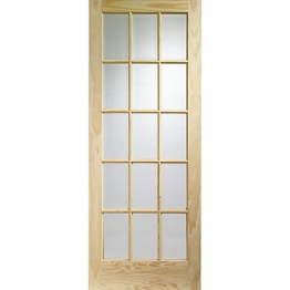 Softwood Sa77 15 Light Glazed Clear Pine Internal Door 1981mm X 686mm X 35mm