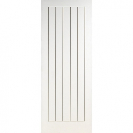 Moulded White Primed Suffolk Semi Solid Internal Door 1981mm X 838mm X 35mm