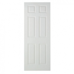 Moulded 6 Panel Smooth Hollow Core Internal Door 1981mm X 762mm X 35mm