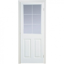 Moulded 6 Panel Smooth Glazed Internal Door 1981mm X 686mm X 35mm