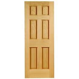 Oak 6 Colonial Panel Non Raised Mouldings Fd30 Internal Fire Door 1981mm X 838mm X 44mm