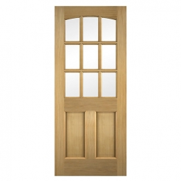 Georgia Oak Veneer Glazed External Door 1981mm X 762mm X 45mm