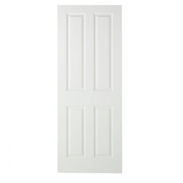 Moulded 4 Panel Smooth Midweight Internal Door 1981mm X 838mm X 35mm