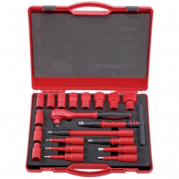 """1/2"""" Sq. Dr. Vde Approved Fully Insulated Metric Socket Set (20 Piece)"""