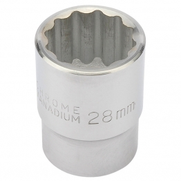 "Expert 28mm 3/4"" Square Drive 12 Point Socket"