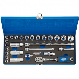 "3/8"" Sq. Dr. Metric Socket Set In Metal Case (27 Piece)"