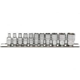 "1/4"" Sq. Dr. Imperial Sockets On Metal Rail (11 Piece)"