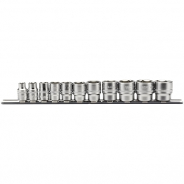 "3/8"" Sq. Dr. Imperial Socket Set On Metal Rail (11 Piece)"