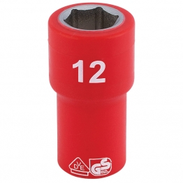"1/4"" Sq. Dr. Fully Insulated Vde Socket (12mm)"