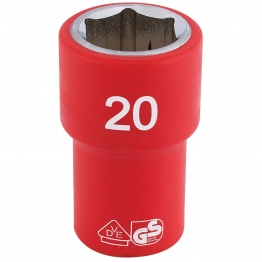 """1/2"""" Sq. Dr. Fully Insulated Vde Socket (20mm)"""