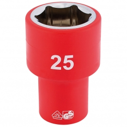 """1/2"""" Sq. Dr. Fully Insulated Vde Socket (25mm)"""