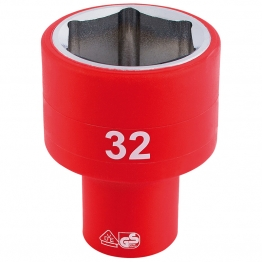"""1/2"""" Sq. Dr. Fully Insulated Vde Socket (32mm)"""