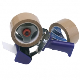 Hand-held Packing (security) Tape Dispenser Kit With Two Reels Of Tape