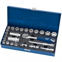 "3/8"" Sq. Dr. Metric Socket Set In Metal Case (25 Piece)"