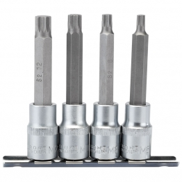 "1/2"" Sq. Dr. Spline Socket Bit Set (4 Piece)"