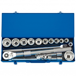 "3/4"" Sq. Dr. Metric Socket Set In Metal Case (17 Piece)"