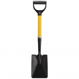 Square Mouth Mini Shovel With Fibreglass Shaft