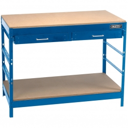 Steel Workbench With Two Drawers